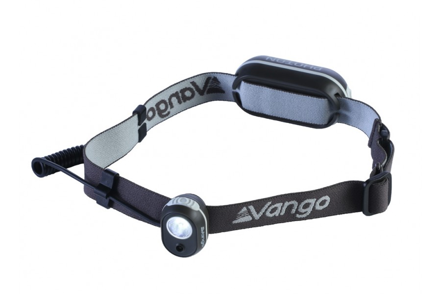 The Vango Photon is a great, small, rechargeable headtorch to compliment your camp lighting. One of the best rechargeable lights I've used.