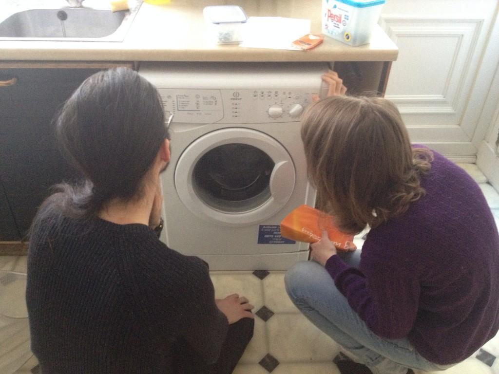 Machines are hard, bma and Sara reading the washing machine