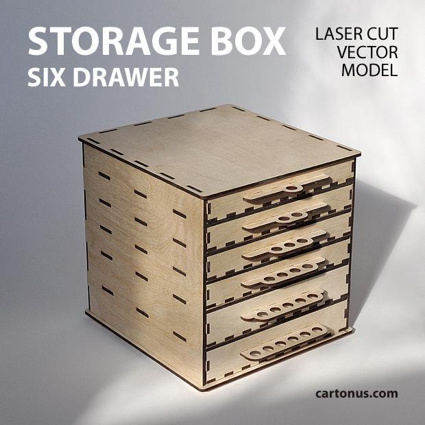 cartonus-storage-box-6-drawers