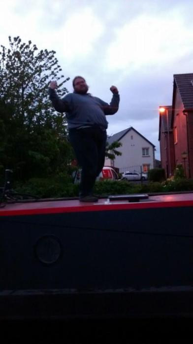 Happy bob on a roof