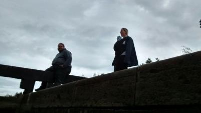 Bob and Tas at the top supervising