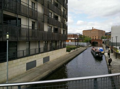 coming up the canal