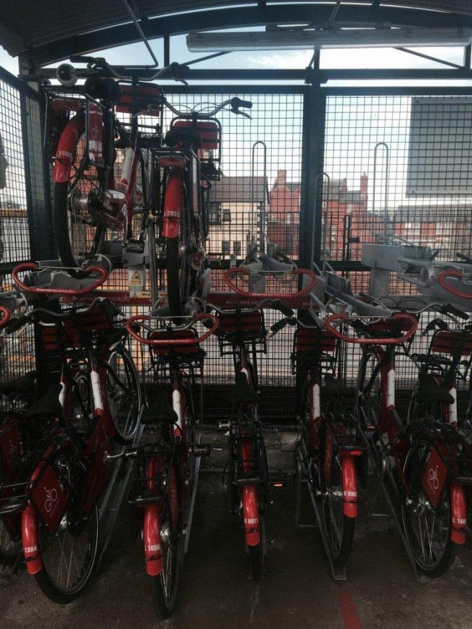 Bike and Go bikes safe and sound ready to borrow