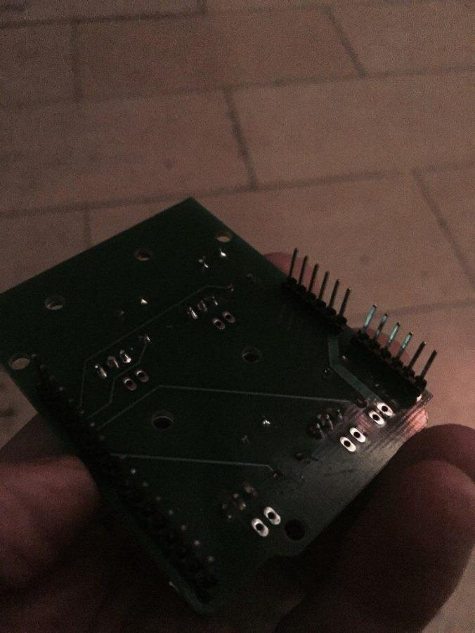 My First PCB Bottom Side