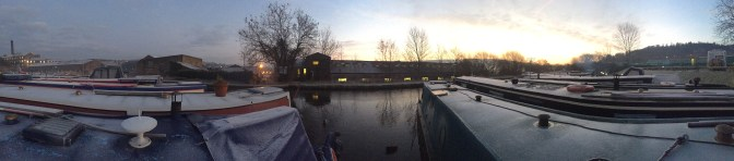 New Mills Marina - Little bit of Ice