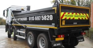 nottingham grab lorry
