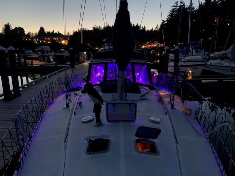 Sailboat charter deck