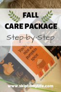 Step-by-Step instructions for making a fall care package your student will love!
