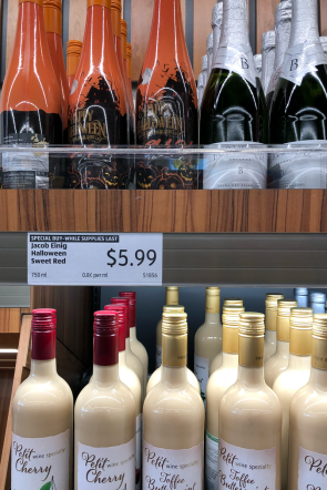 Wine and spirits are one of 5 ALDI favorites you'll want to keep in stock.