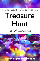 Discover something new on this treasure hunt to Walgreens!