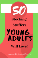 If your stumped for stocking stuffers for young adults, check this list of 50 from Target.