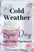 Cold weather spa treatments from Dollar Tree won't break the bank. Keep a stash of self-care items on hand for when you need it most!