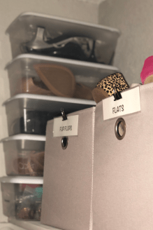 Plastic shoe boxes will help you cure your clutter, even in small spaces.