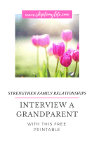 Take advantage of down time with this printable of 5 things your kid needs to know about their grandparents.
