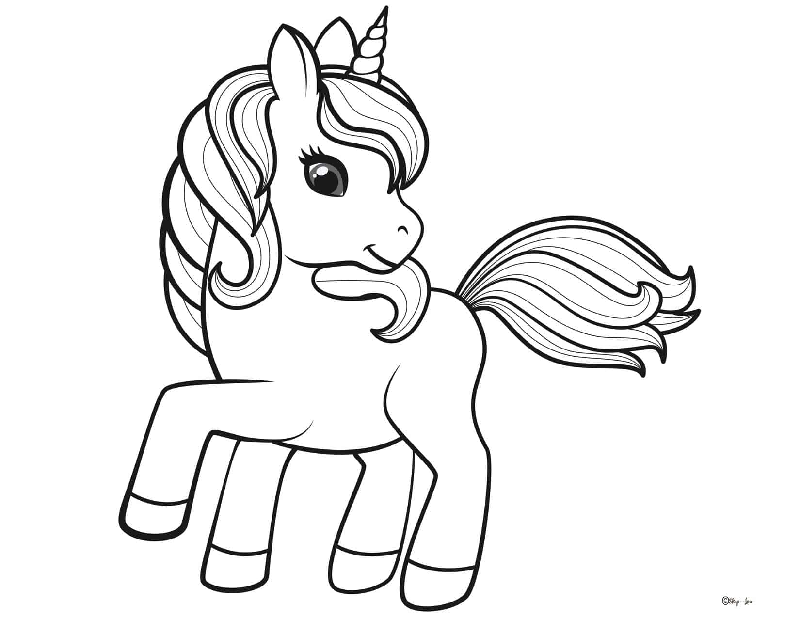 Full Page Unicorn Coloring Pages Printable Novocom Top