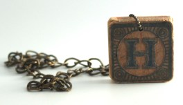 H Block Necklace