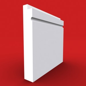 Single Step C Grooved skirting board