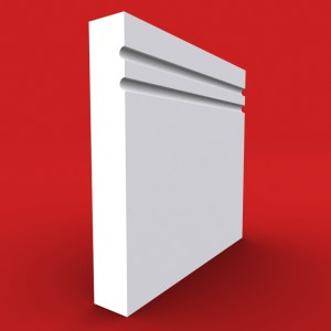 square edge 2 c grooved skirting boards