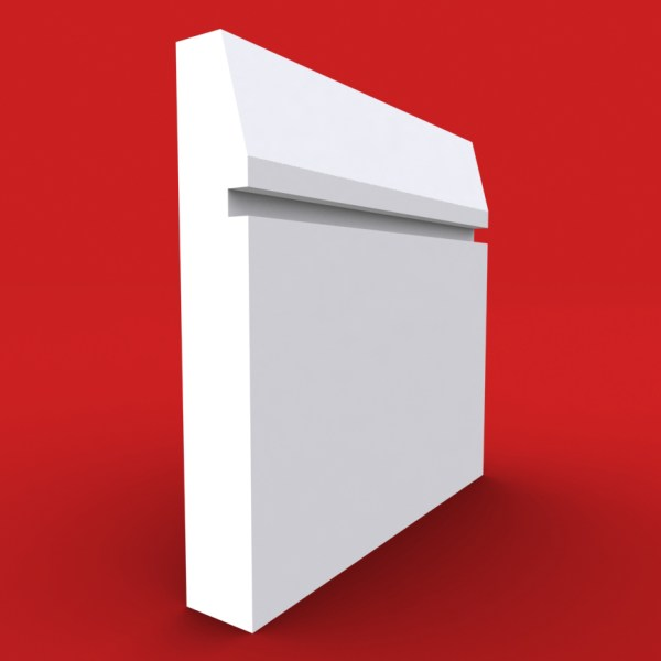Chamfer Square Grooved skirting board