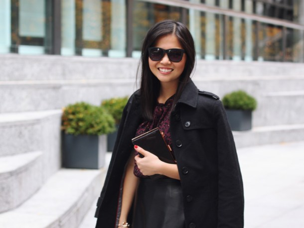 Leather and Faux Leather Outfit