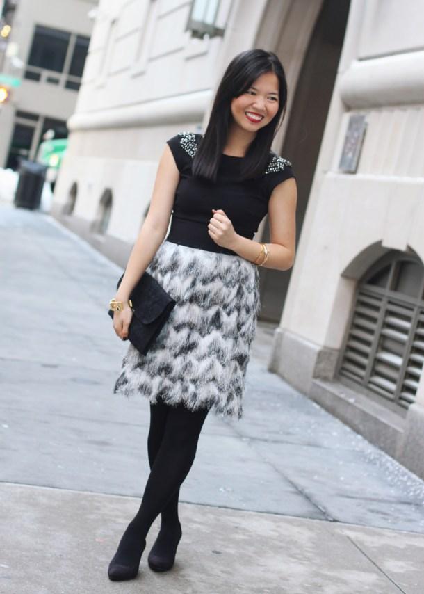 Feather & Fringe Skirt
