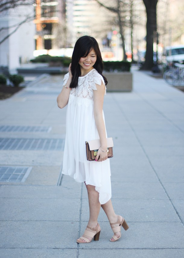 Flowy White Lace Dress
