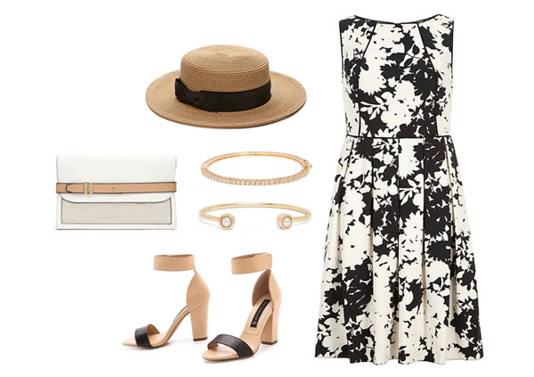 Black and White Derby Dress
