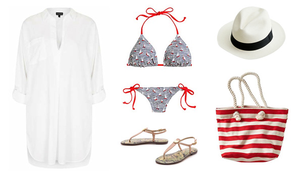 Nautical Inspired Beach Outfit