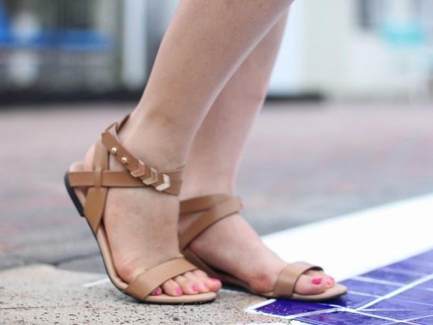 Cognac Flat Sandals