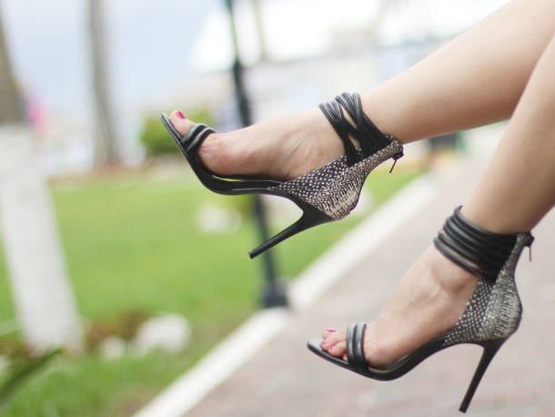 Black Strappy Going Out Heels