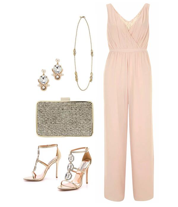Feminine Blush Pink Jumpsuit