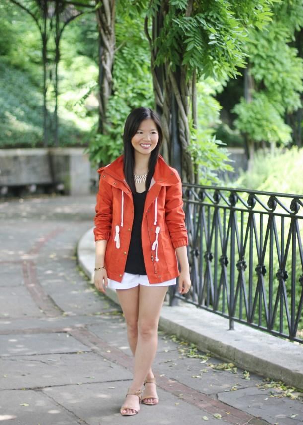 Bright Red Anorak Jacket