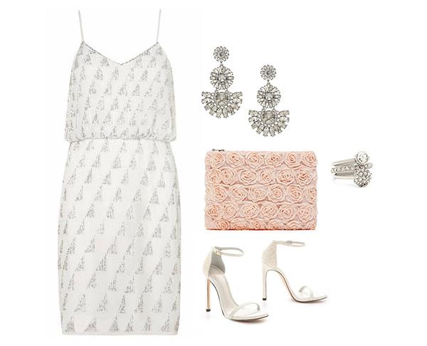 Glam Embellished Little White Dress