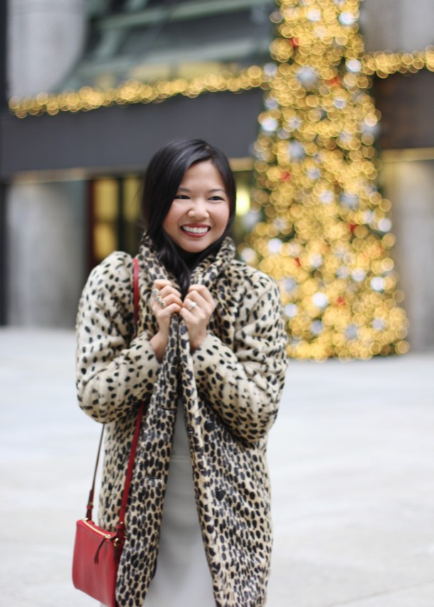 ASOS Faux Fur Leopard Coat