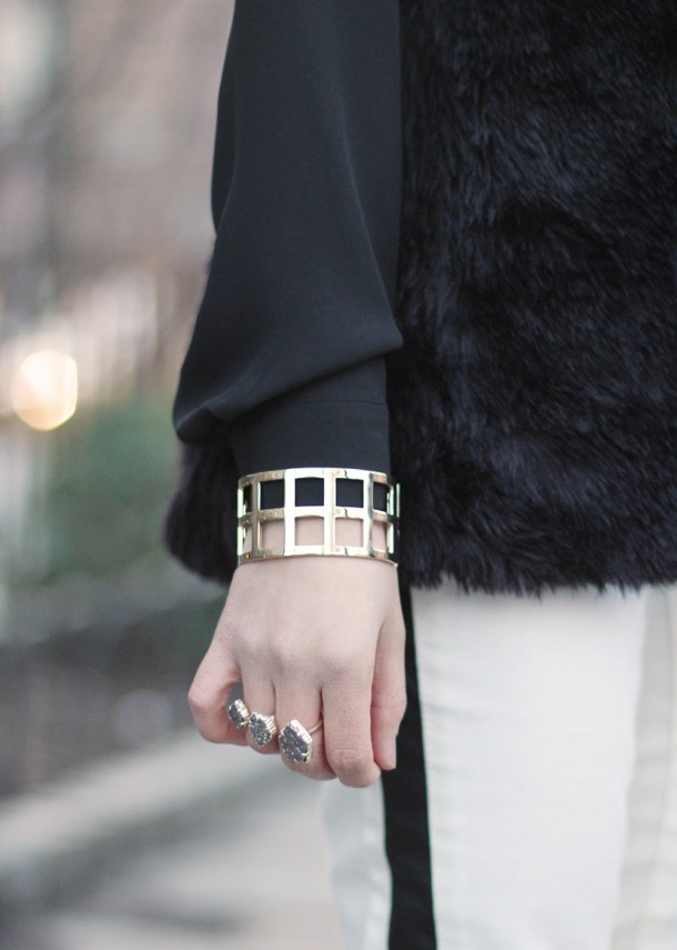 Skirt The Rules //  Black, White & Gold