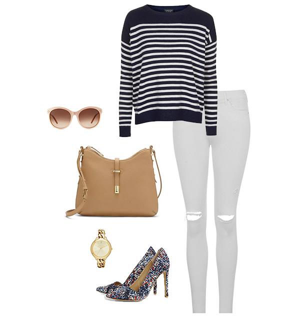 Stripes & Florals Outfit