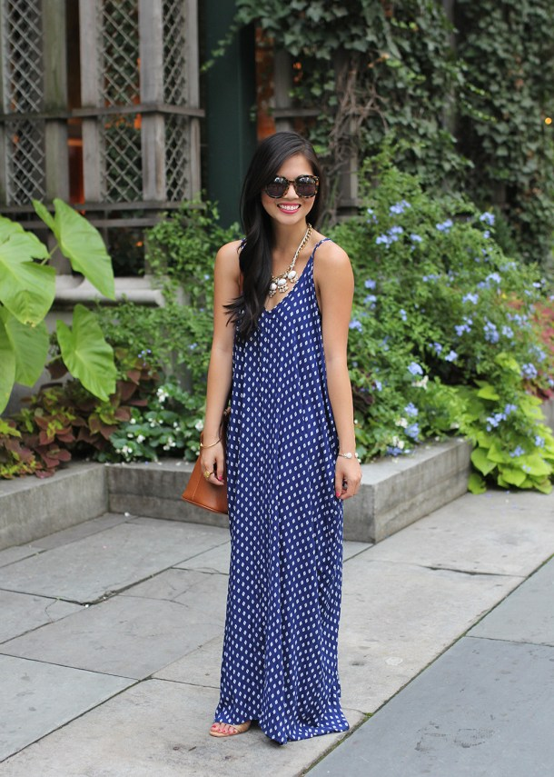 Skirt The Rules // Blue Printed Maxi Dress