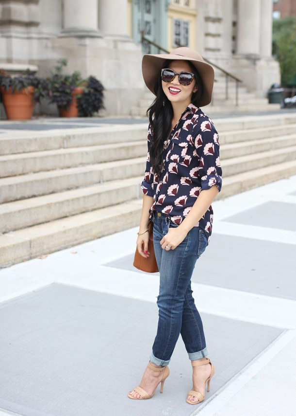 Skirt The Rules // Fall Floral Blouse