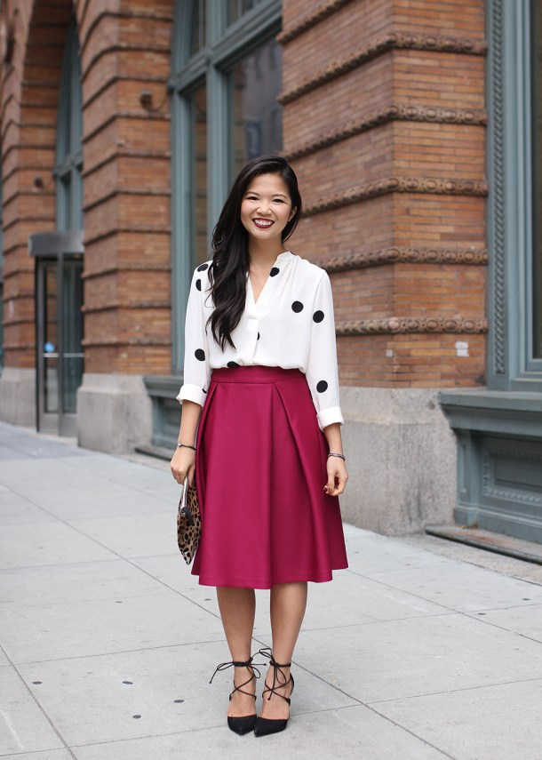Skirt The Rules // Polka Dot Blouse