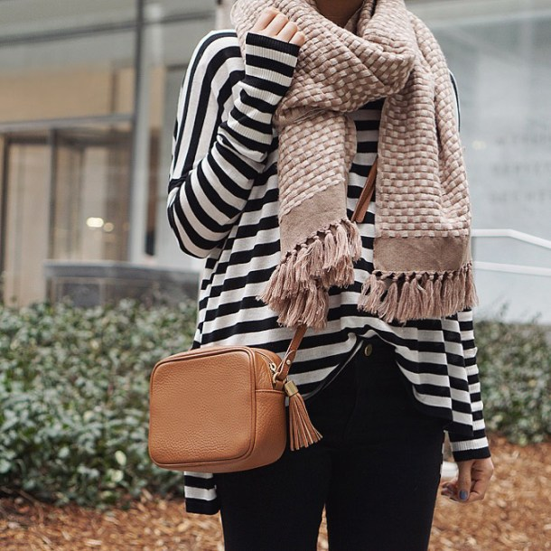 Skirt The Rules / Black & White Striped Sweater