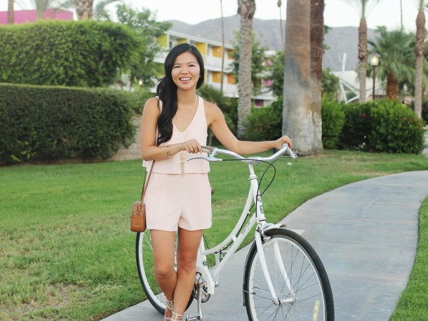 Easy Summer Outfit / Pale Pink Romper