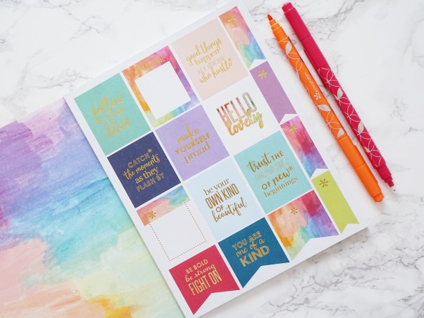 Colorful Inspirational Stickers by Erin Condren