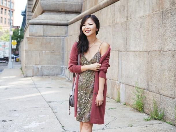 #NSale Finds: Leith Cardigan & BP Floral Slip Dress