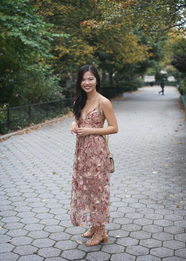 For Love and Lemons Botanic Midi Dress