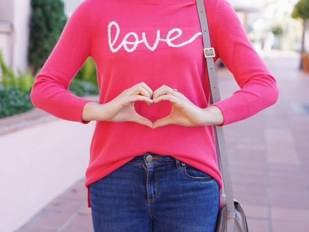 Valentine's Day Outfit Idea / Love Sweater