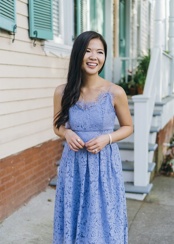 Spring Style / Lavender Lace Dress