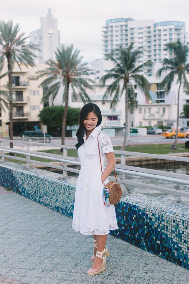 Summer Style Inspiration // Floral White Shirtdress