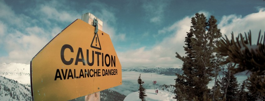 Caution Avalanche Danger. Tips to survive an avalanche