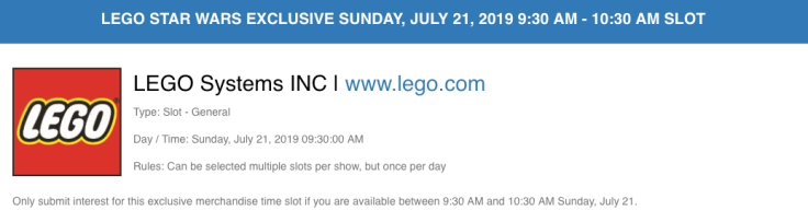 Lego SDCC SW Exclusive 2019 -v2