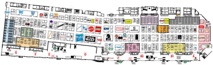 SDCC 2019 Map